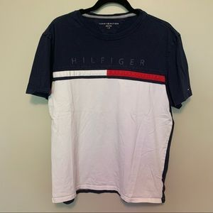 TOMMY HILFIGER Big Logo Navy and White T-Shirt